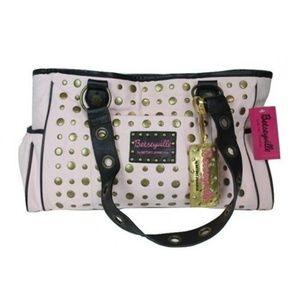 Betsey Johnson Vintage Baby Diaper Bag Pink